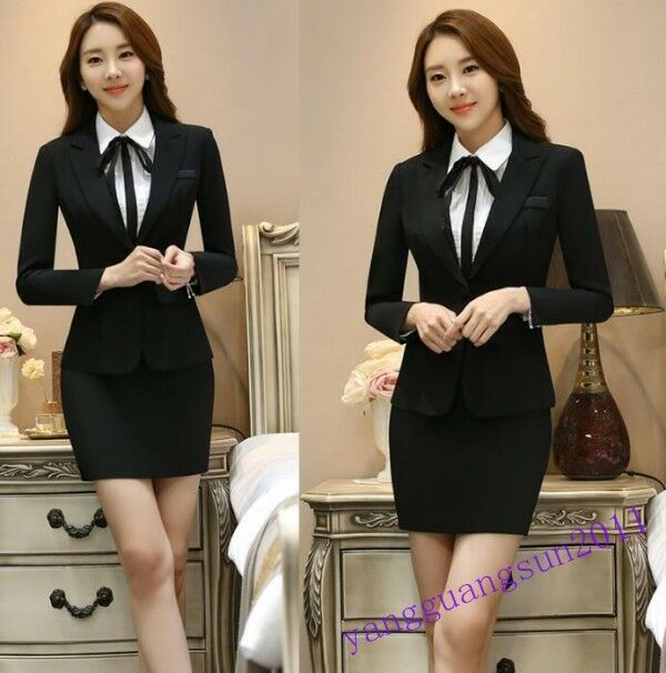Elegant Coat Ladies Skirt Pants 2 Piece Suits Formal Business OL Grace Fashion S