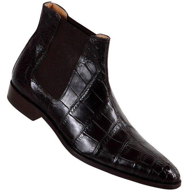 Men Crocodile Stiefel, Men Dark braun Crocodile Texture Stiefel, Stiefel, Stiefel, Mens Stiefel a3de0c
