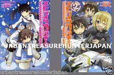 STRIKE WITCHES 501 BUTAI HASSHASHIMASU JAPANESE ANIME MANGA BOOK SET VOL.1-2