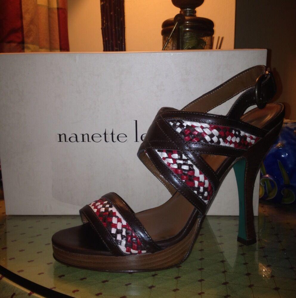 Nanette Lepore Kinky Kitten  Sling Back Heels Brand Nuova w   Box, Dust Bag, Tag  più economico