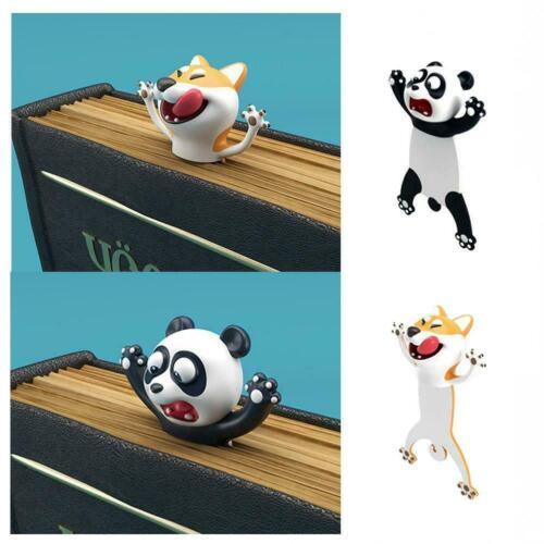3D Stereo Cartoon Tier Lesezeichen Katze Panda Book Marks Geschenke Kids X2B7