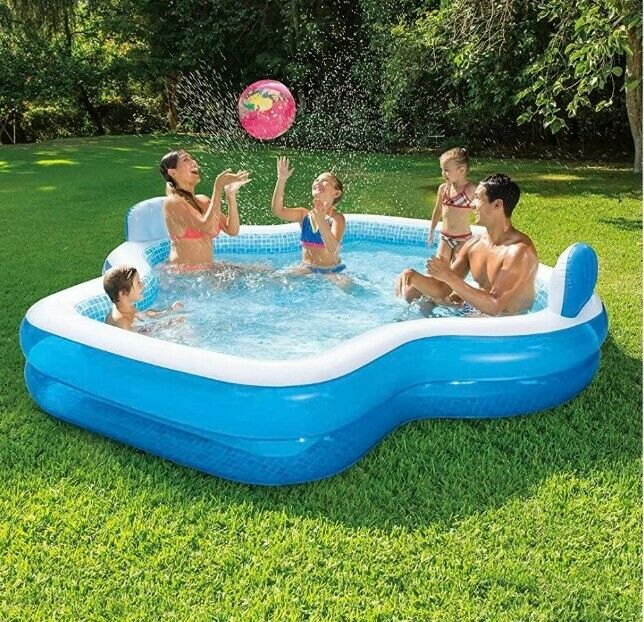 NEW Sam's Club Members Mark Family Elegant Pool With Two Cushion Backrests