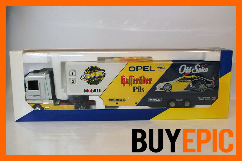 Louis Surber 1 43 Renault Magnum Opel Team Rosberg Team Transporter, Rare