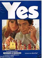 Publicité Advertising 1973 Les Cigarettes Benson & Hedges
