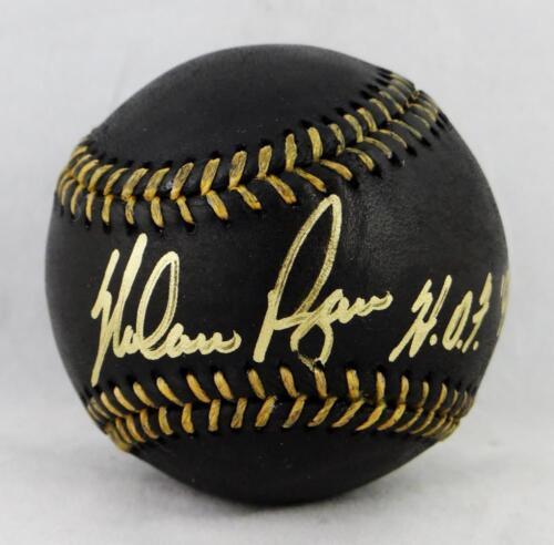 Nolan Ryan Autographed Rawlings OML Black Baseball w/ HOF 99 - AI Verified