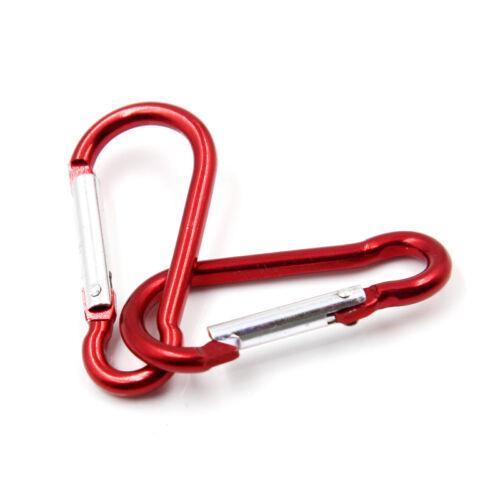 10 Aluminum Carabiner D-Ring Key Chain Clip Snap Hook Karabiner Camping Keyring