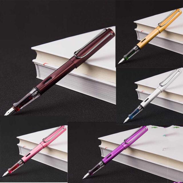 Wing Sung 6359 Metal Fountain Pen Push Cap Extra Fine Nib 0.38mm Writing Office