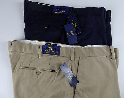 Polo Ralph Lauren Flat Front Stretch Classic Fit Chinos Khaki Pants NWT $98.50