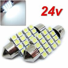 UK 24v x2 C5W 35 / 36mm Truck Lorry HGV Interior Number Plate Festoon LED BULB