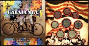 Cartera-Set-monedas-euro-en-prueba-Cataluna-2016-8-monedas-Catalunya-coins-trial