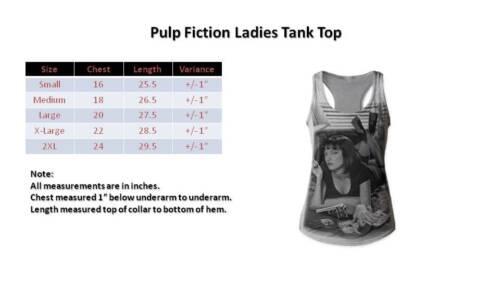 Pulp Fiction Poster Womens Tank Top TShirt New