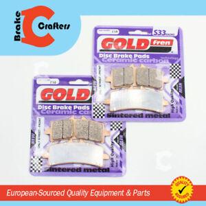 2 pair For SUZUKI GSXR 1000 L2 *GOLDFREN* 2012 /> SINTERED FRONT BRAKE PADS
