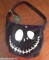 Jack Face Hobo Tote Bag Purse Disney Nightmare Before Christmas Jack Skellington