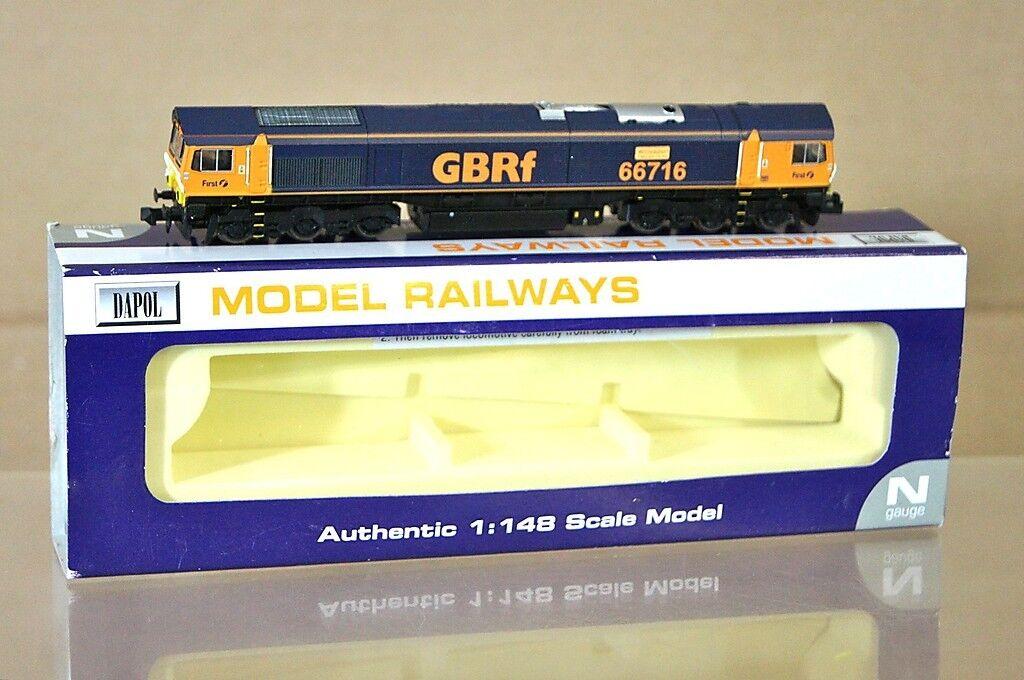 Dapol Nd-044 Gbrf First Class 66 Lokomotive 66716 Willesden Traincare    Rabatt