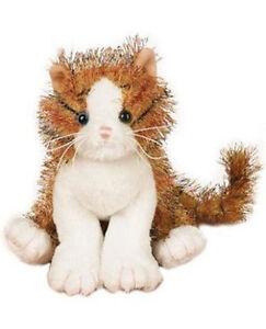 Ganz-Webkinz-ALLEY-CAT-Orange-Striped-HM-042-Plush-Only-No-Code
