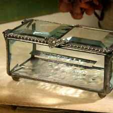 Box Jewelry J Devlin 676 Beveled Glass Double Open Keepsakes Boxes Keepsake