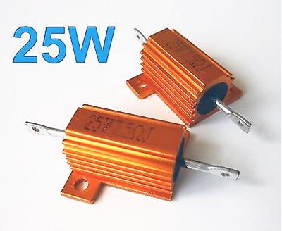 5Pcs 50W Watt Power Metal Shell Wirewound Resistor 120 Ω ~ 800 Ω ohm Class J ±5/%