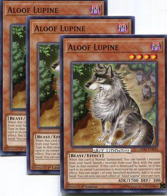 3x Aloof Lupine SAST Short Print Common Mint 1st Ed Yugioh