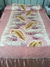 Vintage Retro Mid-Century.           Full/Queen Satin Bedspread