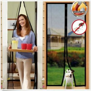 Black-Magnetic-MAGIC-Insect-Door-Mesh-Net-Screen-for-Bug-Mosquito-Fly-Curtain