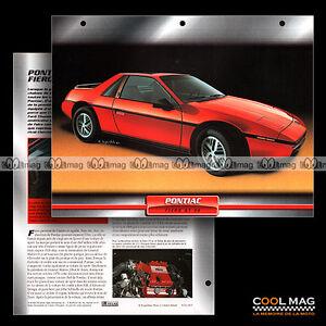 020-03-PONTIAC-FIERO-GT-V6-1985-Fiche-Auto-Car-card