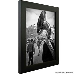Picture-Frame-Contemporary-Solid-Black-1-Wide-Complete-New-Frame
