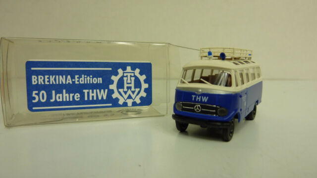 "BREKINA Edition 1:87 36162 MB O 319 Bus ""THW OV Nürnberg"" in OVP (A2484)"
