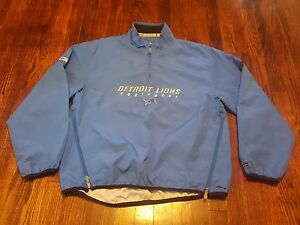 c538ea9b5de Detroit Lions Men s Reebok NFL Equipment Pullover Jacket Medium 1 4 ...