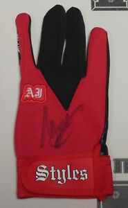 AJ Styles Signed Official WWE Red Glove BAS Beckett COA Pro Wrestling Autograph