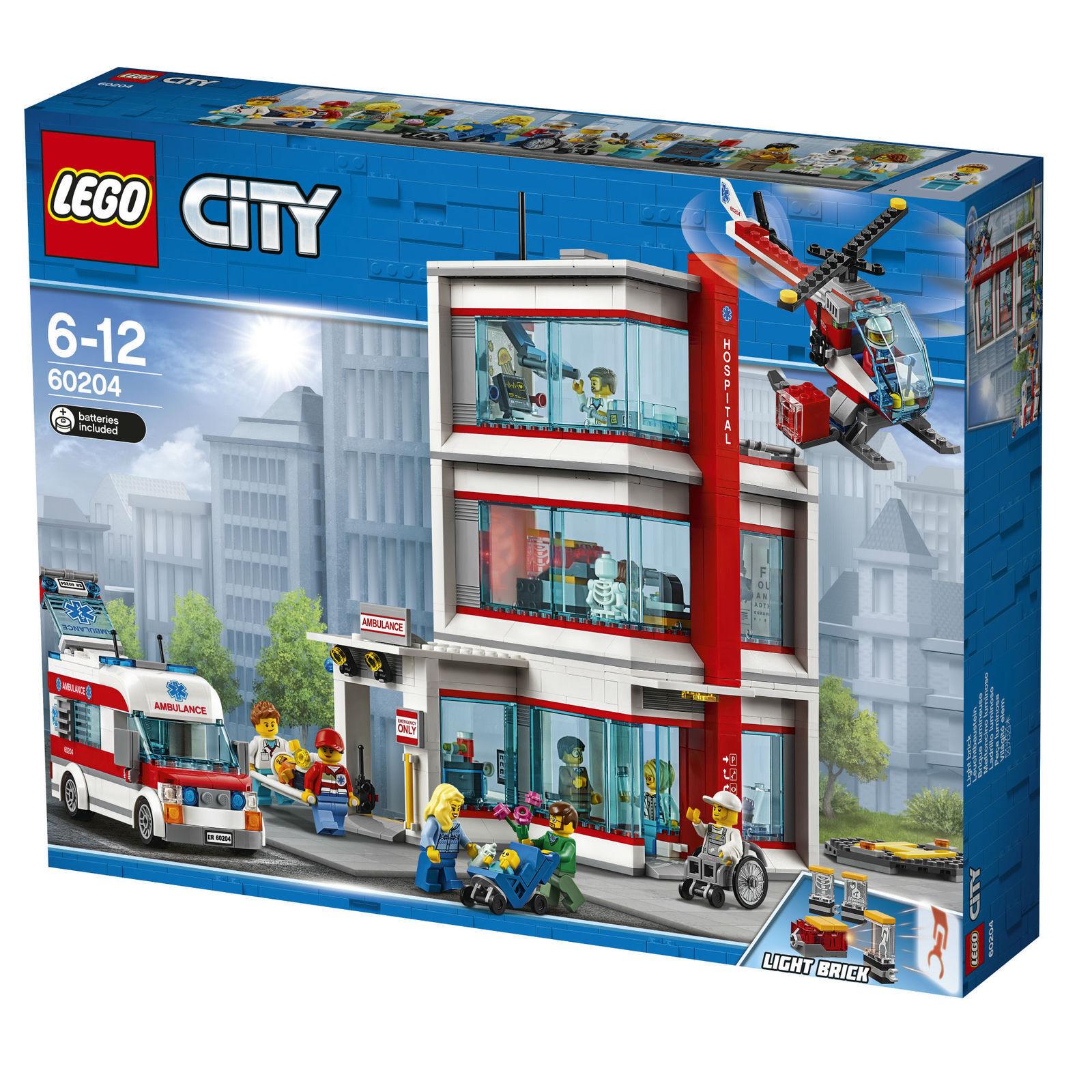 LEGO CITY 60204 KRANKENHAUS 6-12 JAHRE NEU + OVP