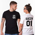 King and Queen Matching Couples Shirts Custom Numbers - His and Hers Fashion Tee