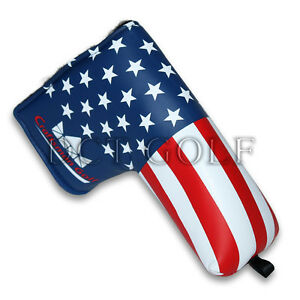 USA-GOLF-PUTTER-COVER-Blade-Headcover-America-Flag-For-Scotty-Cameron-Ping-New