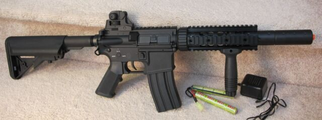 Full Metal M4 Special Operation Airsoft Electric Full Metal Rail System 400 FPS