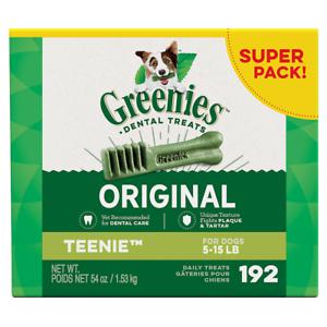 Greenies Teenie Dental Dog Treats. Teenie size. Various pack