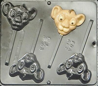 Lion King Baby Lion Lollipop Chocolate Candy Mold  3353 NEW