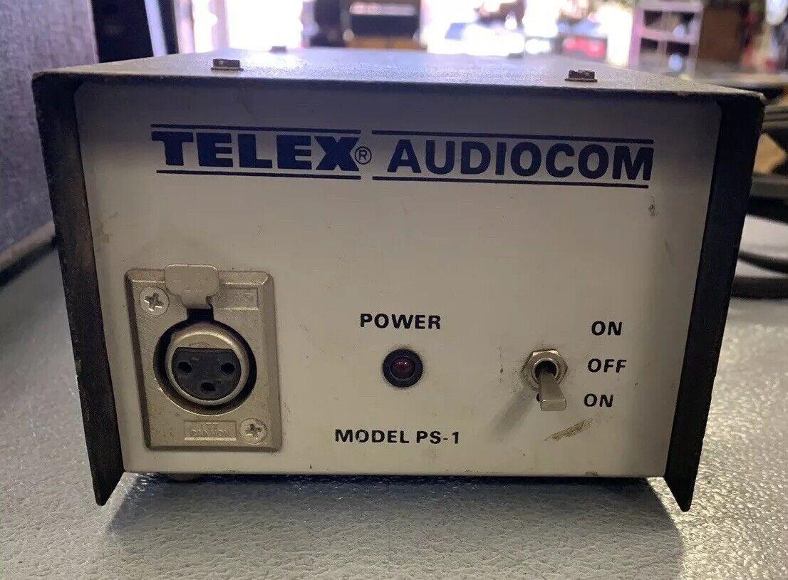 Vintage Telex Audiocom Model PS-1 24VDC Power Supply
