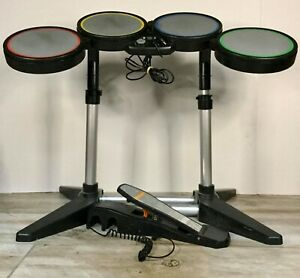 Harmonix-Xbox-360-RockBand-822149-Drum-Kit-Set-with-Pedal-No-Sticks