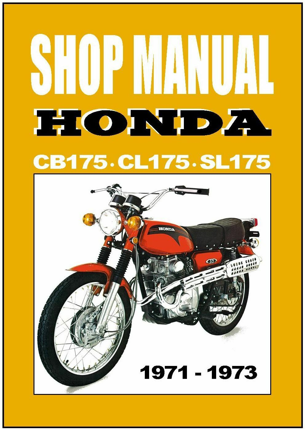 Honda Shop Service Repair Manual 175 Cb175 Cl175 Sl175 Ebay Wiring Diagram
