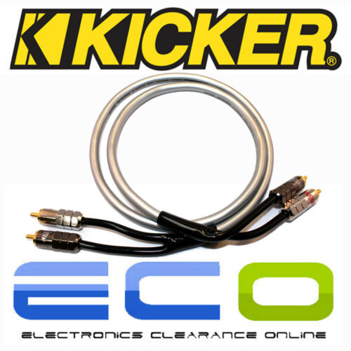 Kicker CAR AUDIO Proffesional 1 metro de Phono RCA Cables lleva 1 par de RCA