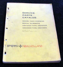 New Holland 1400 Combine Parts Catalog Manual 3801000 3804999 230 Clean Pages