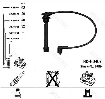 Ignition Cable HT Leads Set Hyundai Coupe GK RD Lantra II Brand New Nipparts