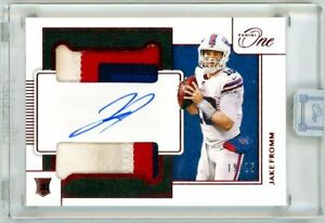 JAKE FROMM 2020 Panini One Dual Rookie Card RC Auto Autograph Patch 19/25 Bills