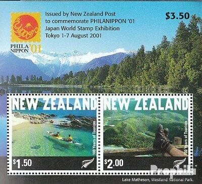 complete.issue. Steady New Zealand Block126 Cancelled 2001 Philanippon Demand Exceeding Supply Fine Used