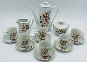 Vintage-Real-Sao-Paulo-Brazil-Coffee-Espresso-Floral-Set-China-Demitasse-Teaset