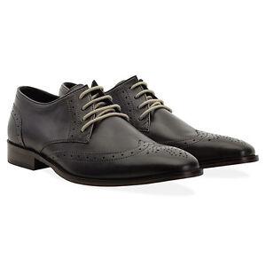 in grigio di rossa Napier pelle derby con derby 9 scarpe in £ Rrp grigia pelle Uk lacci Scarpe con 140 pelle derby in XAqYYp