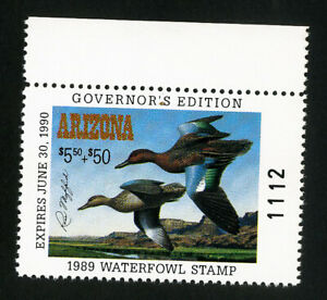 US Duck Arizona Stamps # 3b XF Governors edition OG NH Scott Value $75.00