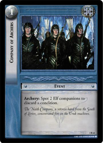 LOTR TCG TTT The Two Towers Company Of Archers 4R61