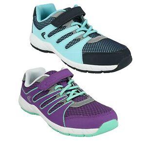 Clarks Cruz Dart niñas infantiles deporte zapatos Purple Combi 7 G jp5bZA