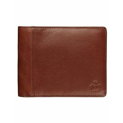 NEW Jeff Banks Leather Wallet with Zip Compartment Dark Brown