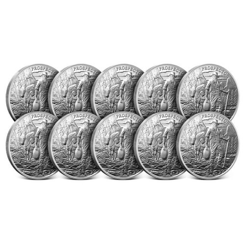 Lot of 10-1 oz Silver Round Provident Prospector .999 Brand New From Mint!